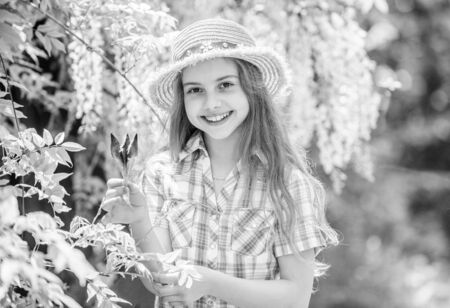 Girl cute adorable teen dressed country rustic style checkered shirt nature Zdjęcie Seryjne