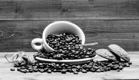 Fresh roasted coffee beans.