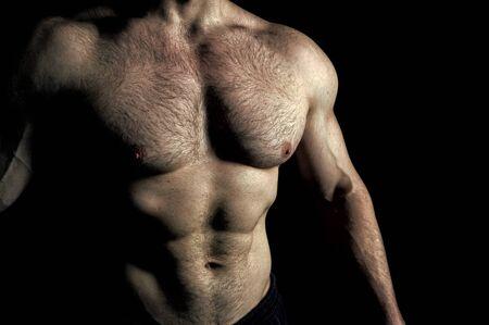 Torso muscular male body. Reklamní fotografie
