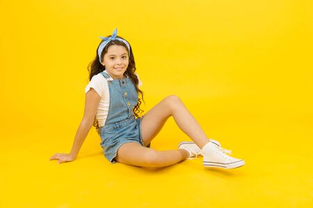 Cute small kid fashion girl.
