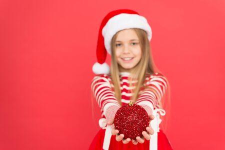 Decorate everything around. I love decorating christmas tree. Festive atmosphere christmas day. Girl santa claus costume hold ball christmas tree ornaments. Buy decorations. Christmas decorations