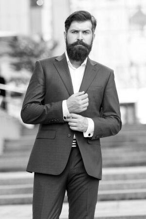 business success. lawyer man. bearded mature man in fashion suit. modern life. motivated entrepreneur. formal male fashion. Classic style aesthetic. mature businessman. serious lawyer. Poker player