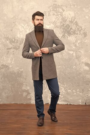 Male fashion model. Mature businessman. Modern life. Casual style. Brutal bearded hipster in casual wear. trendy man with beard. casual fashion look. bearded male in casual jacket. Hip and stylish