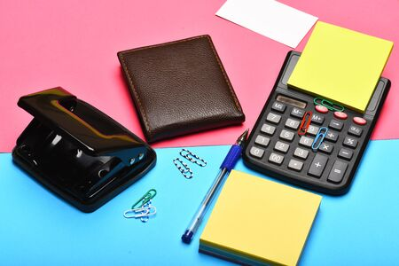 Mans leather wallet and stationery