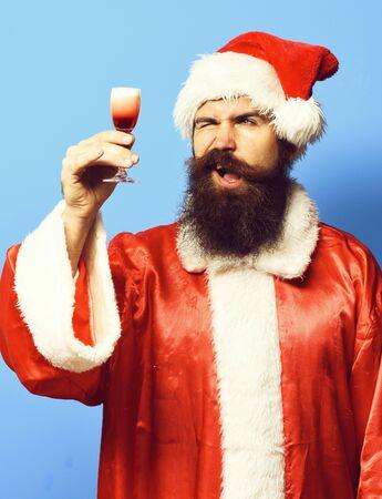 handsome bearded santa claus man Stock fotó