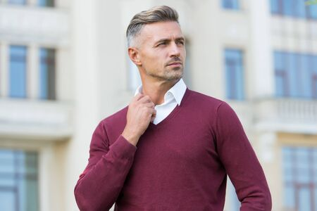 Handsome man in casual style outdoor
