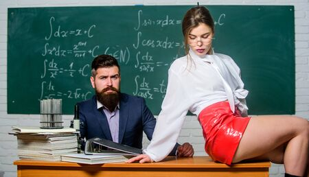 Lustful tutor. Experimenting with feelings. Attractive teacher latex skirt. Cheeky teacher. Impudent student. Flirting colleague. Girl sexy buttocks sit table. Everyone dreaming about such teacher