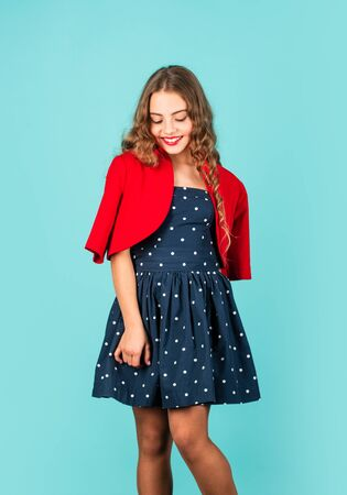 Rise of Vintage Fashion. Popularity of vintage has also been linked to change in consumer attitudes towards wearing and utilizing second hand goods. Little girl vintage style outfit. Retro kid