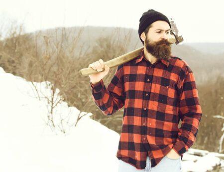 Handsome man or lumberjack