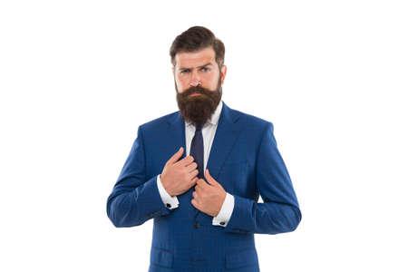 Bearded man in formal style.