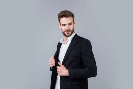 handsome man wear formal suit. confident businessman in shirt and jacket.