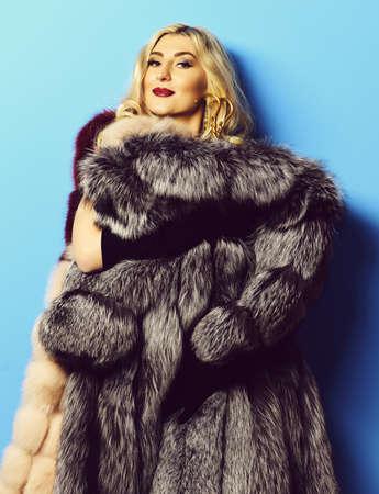 fashionable woman in fur