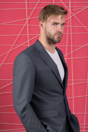 man in stylish jacket. Male formal fashion. Business fashion and dress code. confident businessman in suit.
