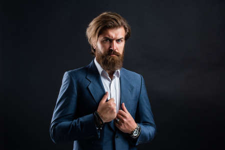 Man modern outfit for business life, presentable view concept