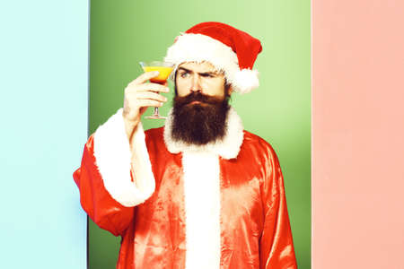 serious bearded santa claus man Zdjęcie Seryjne