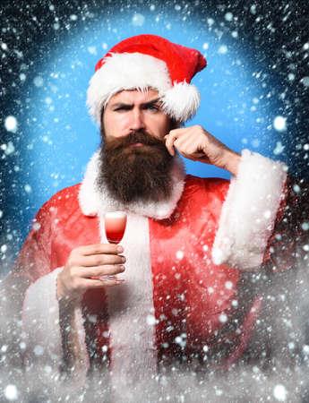 handsome bearded santa claus man Zdjęcie Seryjne