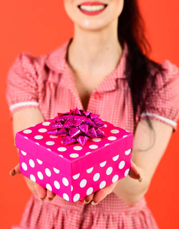 Present, gift, Womans day, Christmas, shopping concept.