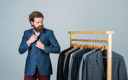 Handsome businessman formal office wardrobe, groom tuxedo concept