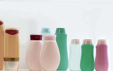 empty beauty products plastic bottles