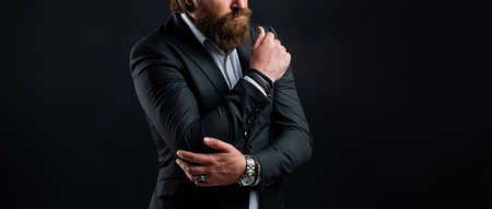 Representation modern successful man business career, fashion accessory concept