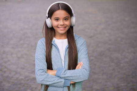 my happy life. listen to music. back to school. online private education. smiling kid study audio book. elearning and ebook. childhood happiness. teen girl in earphones. happy child wear headphones