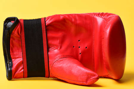 Leather box equipment for fight and training. Boxing gloves