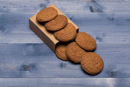 Sweet bakery and delicious snack. Oatmeal biscuits Stock fotó