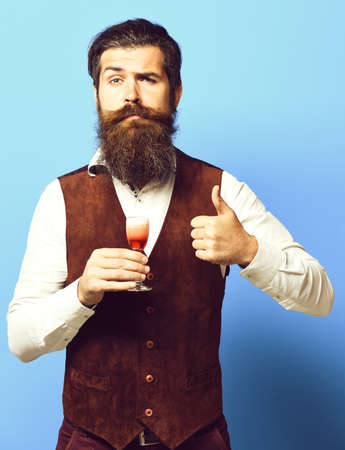 funny handsome bearded man with long beard