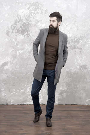 mature trendy man with beard. Male fashion model. Mature businessman. Casual style look. Modern life. Brutal mature bearded hipster in denim wear. fashion look. man look stylish. Cool and sexy