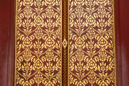 traditional thai door: pattern in traditional Thai style art painting on door of the temple & Traditional Thai Door Stock Photos Images. Royalty Free ... Pezcame.Com