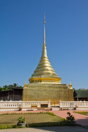 Thai Golden Pagoda Stockfoto