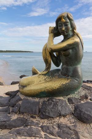 mermaid sculpture, Songkhla, Thailand