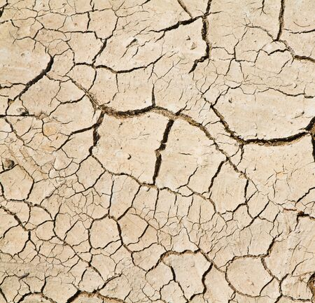 cracked clay ground into the dry season Stock Photo - 13594268