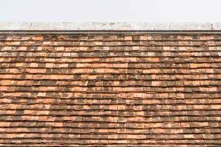 Old red and orange roof tiles