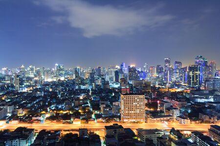 Bangkok City, Thailand,cityscape at night  Stock Photo