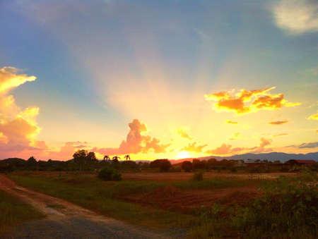 Beautiful sunset scenery Stock Photo