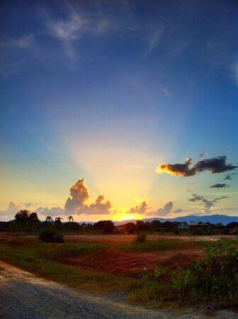 Beautiful sunset scenery.