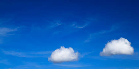 couple white clouds in the blue sky  Stockfoto