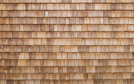 shingle wooden roof tile background Stock Photo