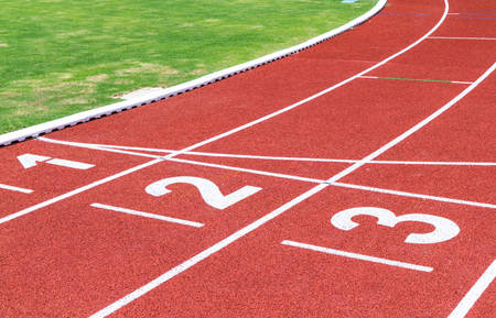 Athletics Track with Lane Numbers