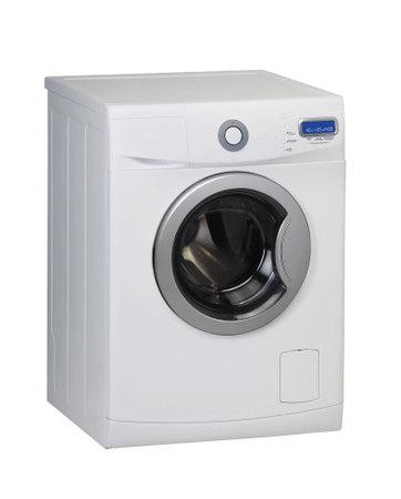 Modern washing machine isolated on white. Studio shoot.
