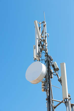 View of telephone and data telecommunication antennas installations in the island of Crete. Reklamní fotografie
