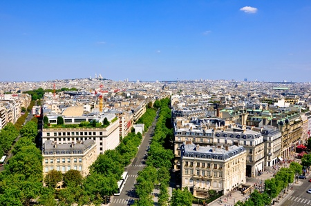 View of Paris from the Arc de Triomphe  Stock Photo - 15855510