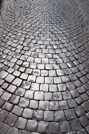 The pavement in Rome, Italy  photo