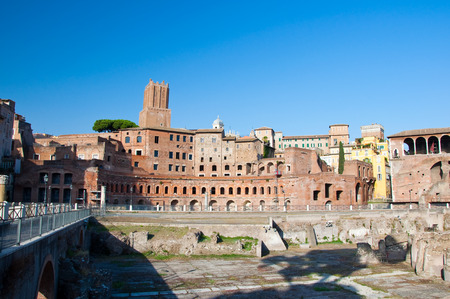 Trajan s Forum and Casa dei cavalieri di Rodi  Rome, Italy photo
