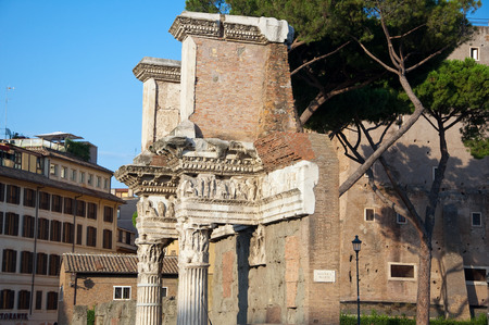 Remains of the peristyle of the Temple of Minerva  Trajan s Forum, Rome, Italy  photo