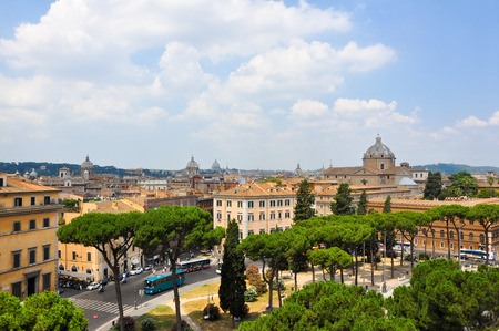 ROME-JULY 19  Rome as seen from the Capitoline Hill on July 19, 2013 in Rome, Italy