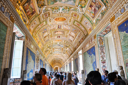 Maps Gallery in Papal Palace in the Vatican