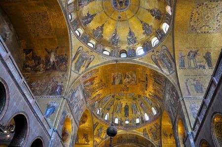 san marco: Interior of St Mark s Basilica in Venice, Italy