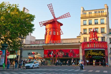 Moulin Rouge on June 27, 2010 in Paris